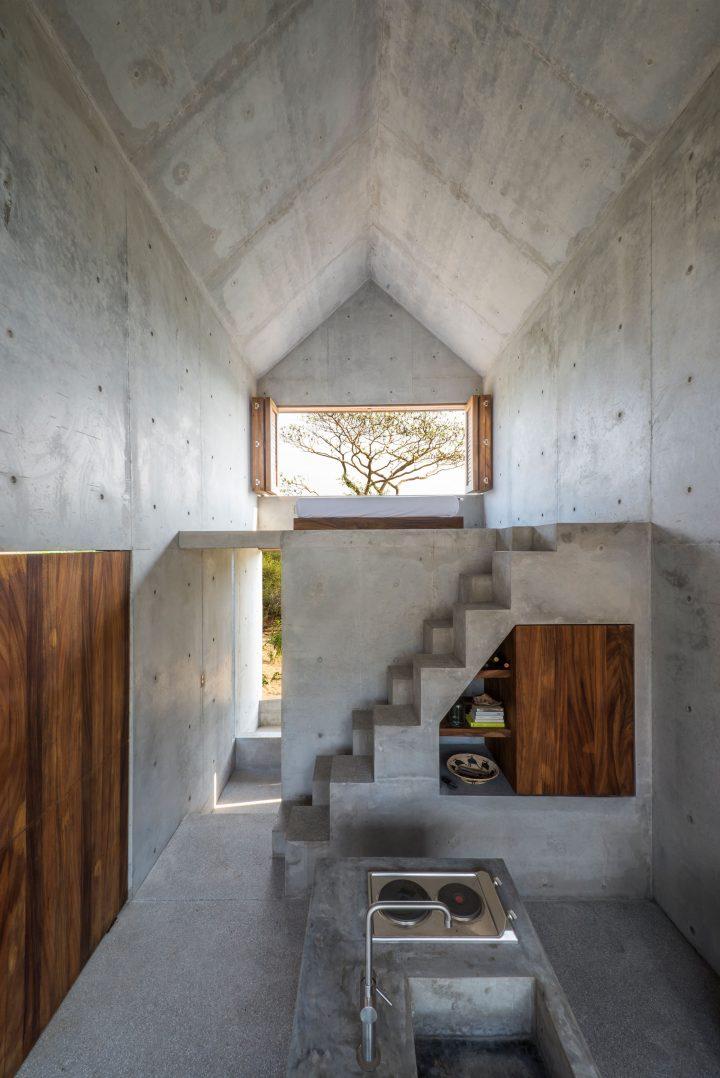 cozinha e sala casa isolada
