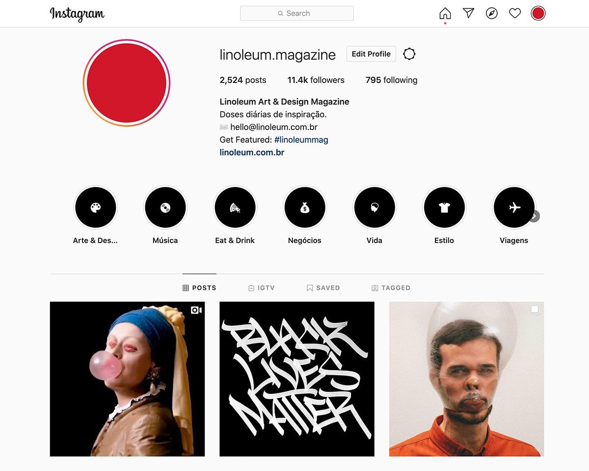 Instagram Linoleum Magazine