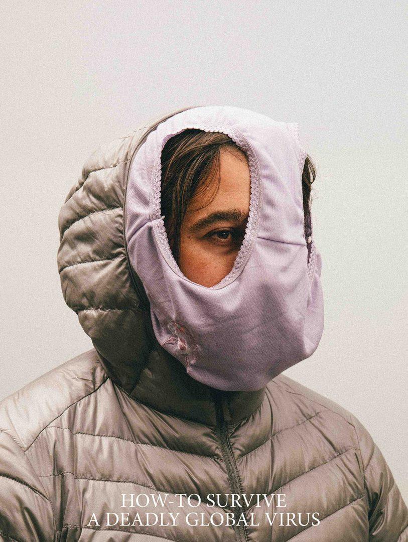 mascara feita com roupa intima