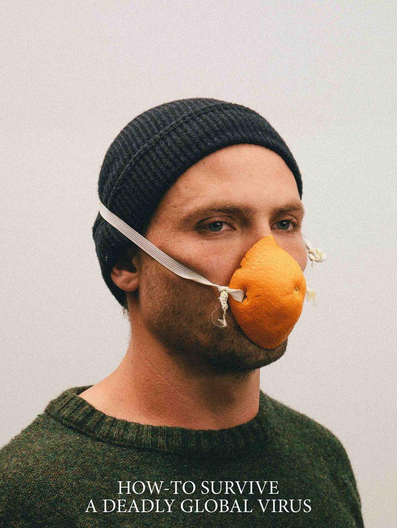 Máscaras Caseiras feitas com objetos do dia a dia viram arte.